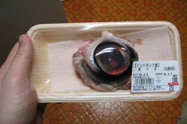 Oko tuńczyka japońskie danie