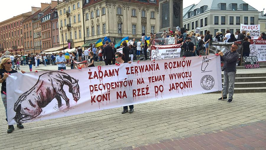 Protest manifestacja plac zamkowy warszawa TARA