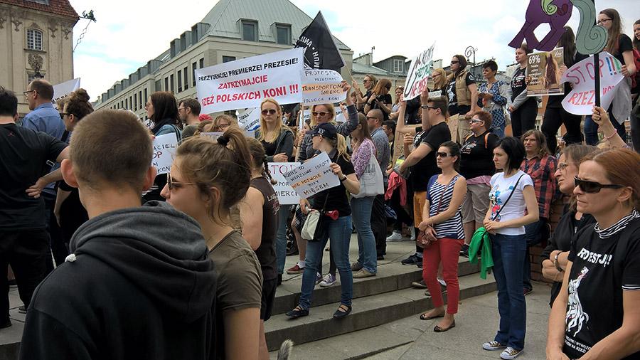 Protest manifestacja plac zamkowy warszawa TARA 4