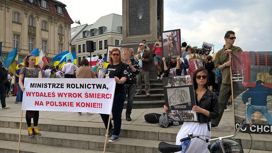 Protest manifestacja plac zamkowy warszawa TARA 6