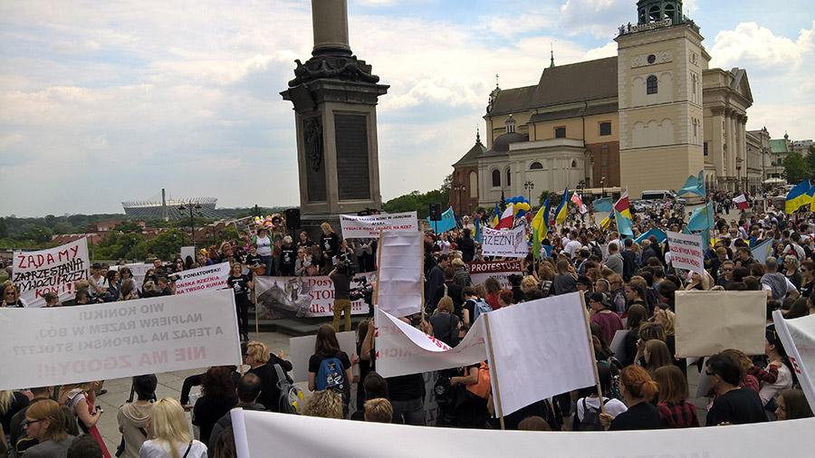 Protest manifestacja plac zamkowy warszawa TARA 7