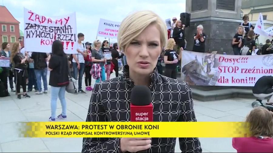 Super Stacja media na temat protestu w Warszawie