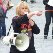 Scarlett na manifestacji