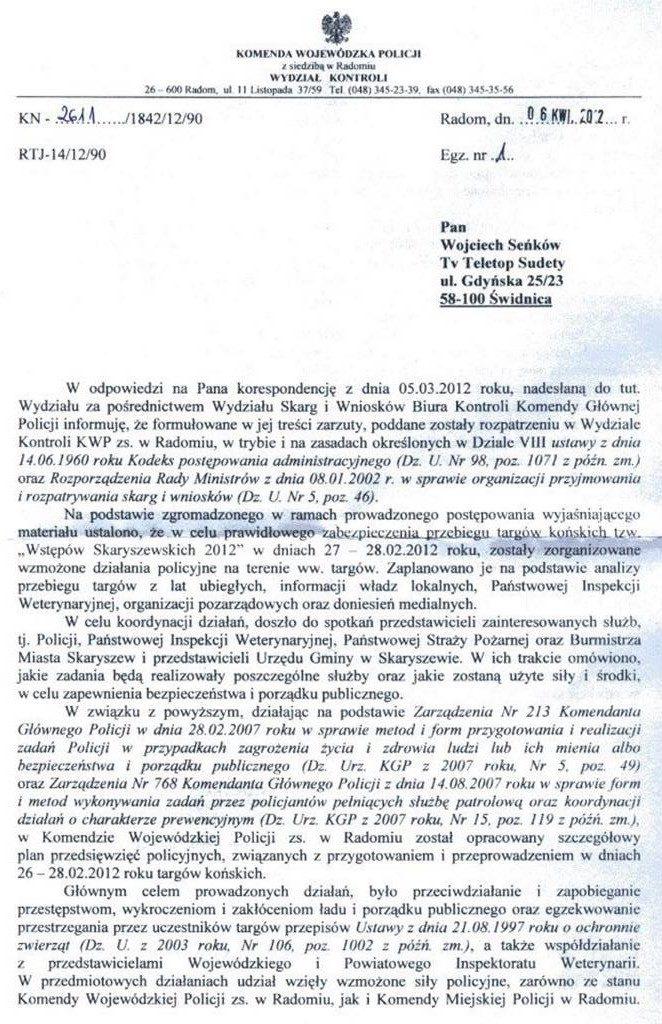 Skarga Skaryszew