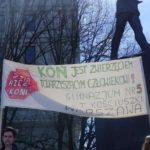 Manifestacja w Warszawie.